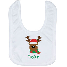 Baby Bib - Winston The Reindeer with Name
