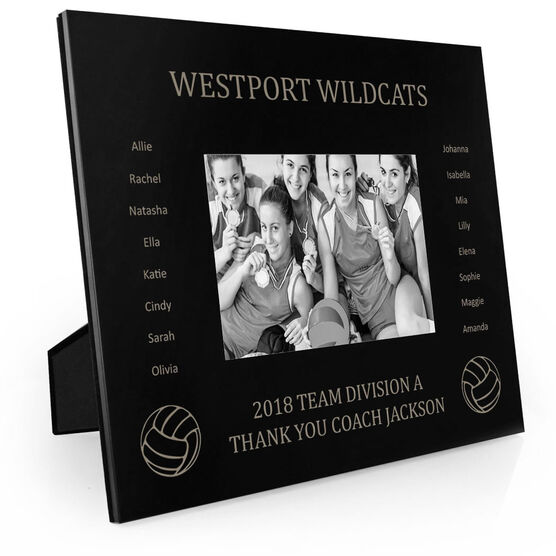 Volleyball Engraved Picture Frame - Team Name With Roster