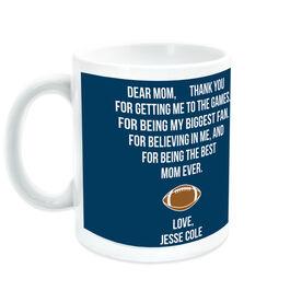 Football Coffee Mug - Dear Mom Heart