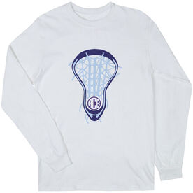 Girls Lacrosse Long Sleeve T-Shirt - Lax is Life with Monogram
