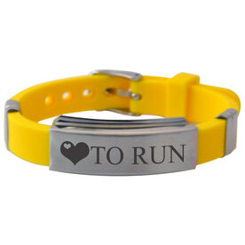 Love To Run Silicone Bracelet