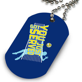Volleyball Printed Dog Tag Necklace You Just Got Served