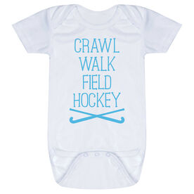 Field Hockey Baby One-Piece - Crawl Walk Field Hockey