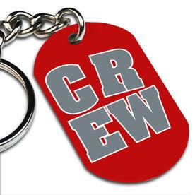 CREW Block Printed Dog Tag Keychain