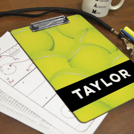 Tennis Custom Clipboard Personalized Tennis Ball Background