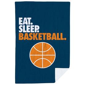 Basketball Premium Blanket - Eat. Sleep. Basketball. Vertical