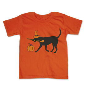 Field Hockey Toddler Short Sleeve Tee - Witch dog