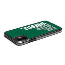 Wrestling iPhone® Case - Eat Sleep Wrestle (Stacked)