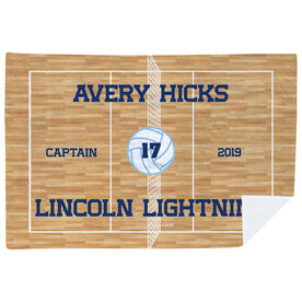 Volleyball Premium Blanket - Personalized Volleyball Captain
