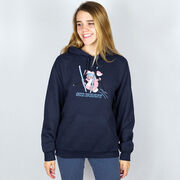 Skiing Hooded Sweatshirt - Ski Bunny