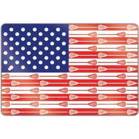 "Lacrosse Aluminum Room Sign American Flag (12"" X 18"")"