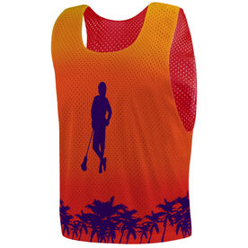 Guys Lacrosse Pinnie - Chillax'n With Palm Trees
