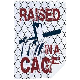 Baseball Premium Blanket - Raised In A Cage