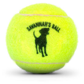 Personalized Dog Tennis Ball