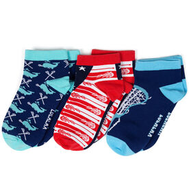 Girls Lacrosse Ankle Sock Set - All American