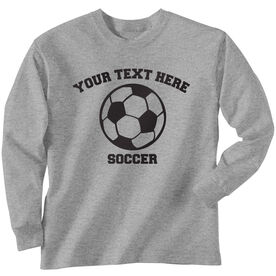 Custom Soccer T-Shirt Long Sleeve