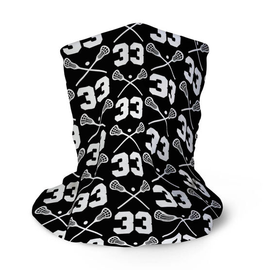 Guys Lacrosse Multifunctional Headwear - Custom Team Number Repeat RokBAND