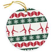 Gymnastics Porcelain Ornament Ugly Sweater