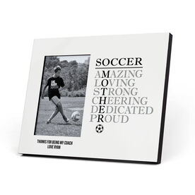 Soccer Photo Frame - Mother Words