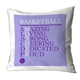 Basketball Throw Pillow - Mother Words