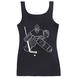 Hockey Women's Athletic Tank Top - Hockey Goalie Sketch
