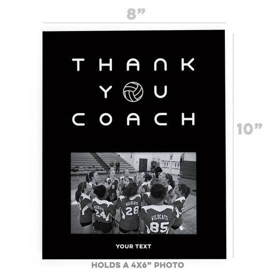 Volleyball Photo Frame - Thank You Coach