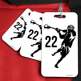 Lacrosse Bag/Luggage Tag Personalized Jump Shot Silhouette