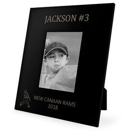 Baseball Engraved Picture Frame - Name and Number (Player Silhouette)
