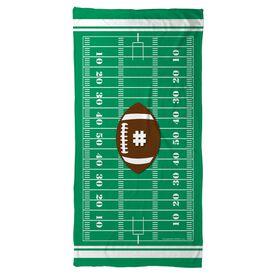 Football Beach Towel Personalized Field