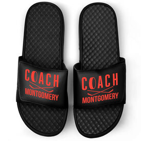 Hockey Black Slide Sandals - Coach