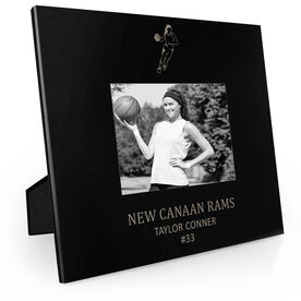 Basketball Engraved Picture Frame - Girl Player
