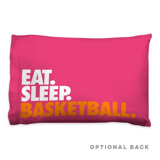 Basketball Pillowcase - Eat Sleep Basketball