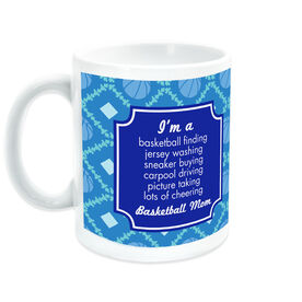 Basketball Coffee Mug Mom Poem With Ball Pattern