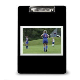 Field Hockey Custom Clipboard Field Hockey Your Photo Solid Background