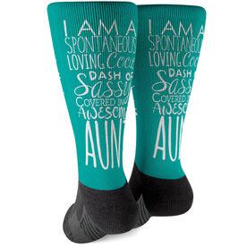 Printed Mid-Calf Socks - That's My Aunt