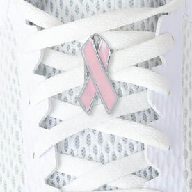 LaceBLING Shoelace Charm - Pink Ribbon