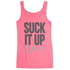 Women's Athletic Tank Top Suck It Up Buttercup