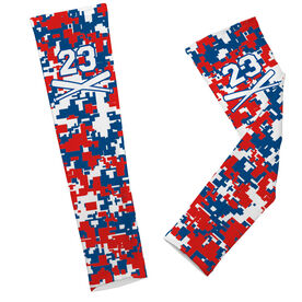 Baseball Printed Arm Sleeves Digital Camo with Number