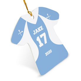 Guys Lacrosse Ornament - Personalized Jersey