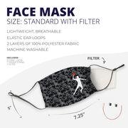 Basketball Face Mask - Digital Camo Basketball