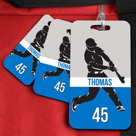 Baseball Bag/Luggage Tag personalized Baseball Guy with Name and Number
