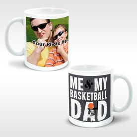 Basketball Coffee Mug Me & My Dad Custom Photo
