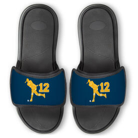 Field Hockey Repwell™ Slide Sandals - Field Hockey Player With Number