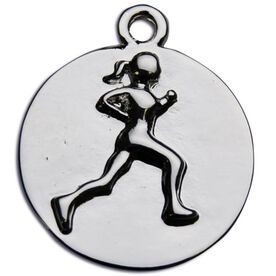 Running Girl Message Ring Charm