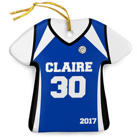 Volleyball Porcelain Ornament Personalized Jersey