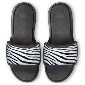 Personalized Repwell® Slide Sandals - Zebra Print