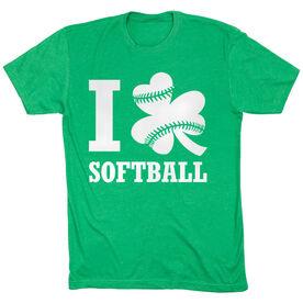 Softball Tshirt Short Sleeve I Shamrock Softball