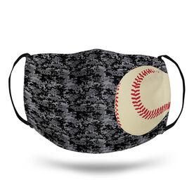Baseball Face Mask - Digital Camo Baseball