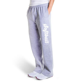 Softball Fleece Sweatpants - Softball Script