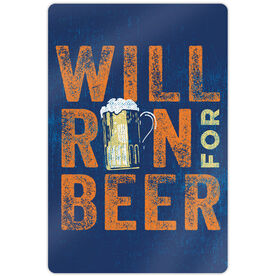 "Running 18"" X 12"" Wall Art - Will Run For Beer"